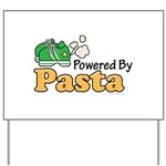 Powered By Pasta Funny Runner Yard Sign