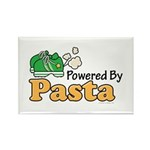 Powered By Pasta Funny Runner Rectangle Magnet