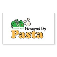 Powered By Pasta Funny Runner Rectangle Decal