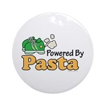 Powered By Pasta Funny Runner Ornament (Round)
