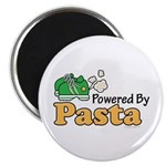 "Powered By Pasta Funny Runner 2.25"" Magnet 10"