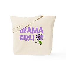Flower Power Obama Girl Tote Bag