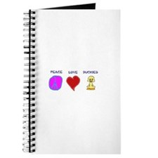 Peace Love duckies Journal
