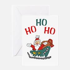 Ho Ho Ho Santa Claus Greeting Card
