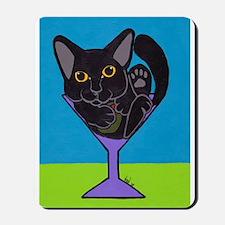 Black Cat Martini Mousepad