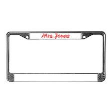Mrs. Jonas License Plate Frame