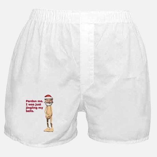 Funny Naked Santa Boxer Shorts