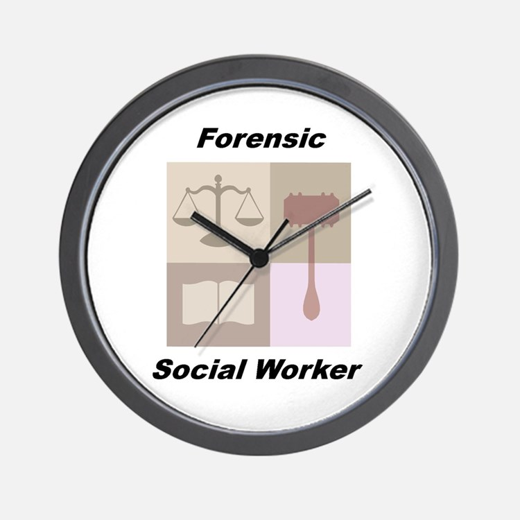 Forensic Social Worker Wall Clock
