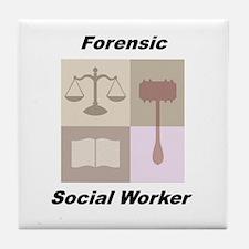 Forensic Social Worker Tile Coaster