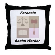 Forensic Social Worker Throw Pillow