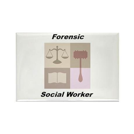 Forensic Social Worker Rectangle Magnet (100 pack)