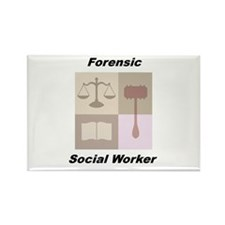 Forensic Social Worker Rectangle Magnet