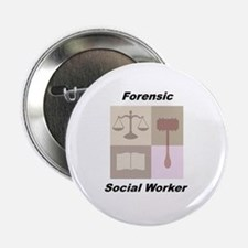"""Forensic Social Worker 2.25"""" Button"""