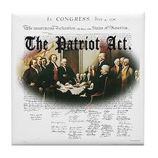 Patriot Act Tile Coaster