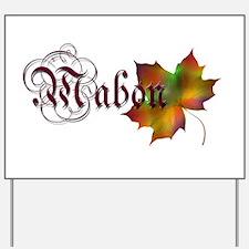 Mabon Autumn Yard Sign