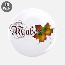 """Mabon Autumn 3.5"""" Button (10 pack)"""