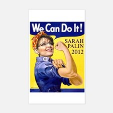 Sarah Palin We Can Do It Rectangle Decal