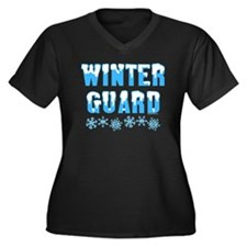 Winter Guard Women's Plus Size V-Neck Dark T-Shirt