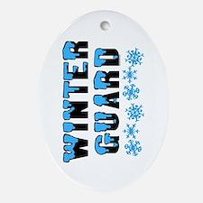 Winter Guard Oval Ornament