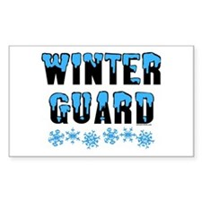 Winter Guard Rectangle Decal