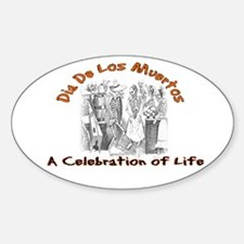 A Celebration of Life Oval Decal