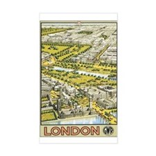 London England Rectangle Decal