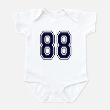 NUMBER 88 FRONT Infant Bodysuit