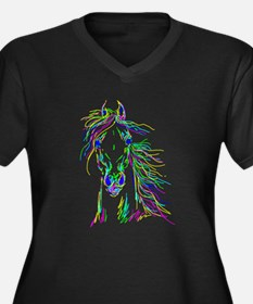 Colorful Steed Plus Size T-Shirt