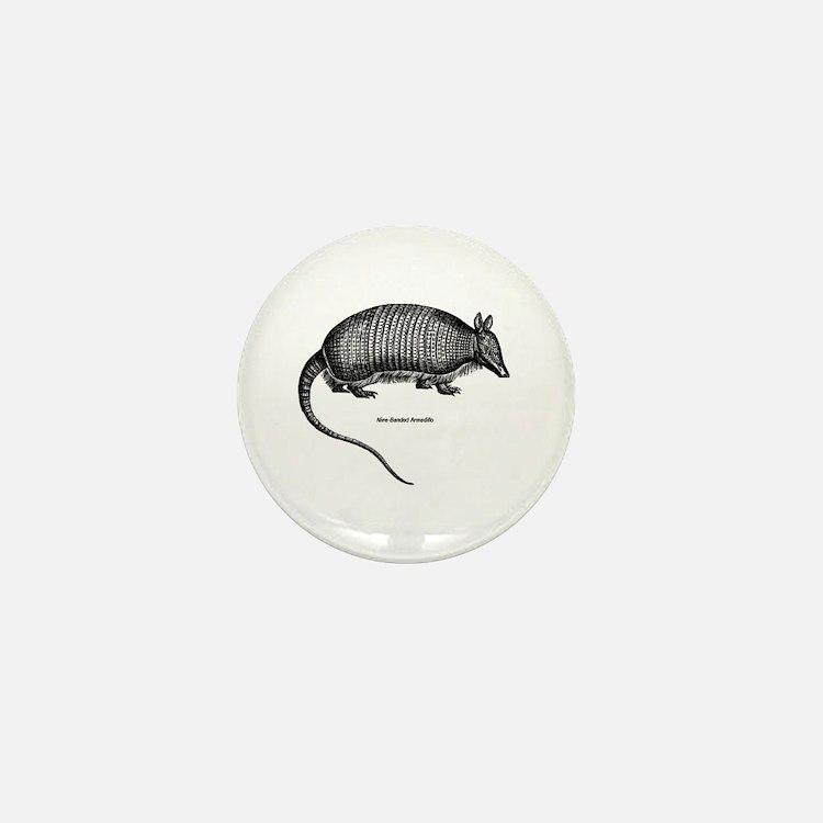 Nine-Banded Armadillo Mini Button