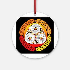 Orange Celtic Knot Keepsake (Round)