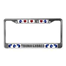 Thoroughbred License Plate Frame