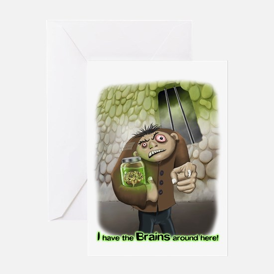 I have the Brains Greeting Card
