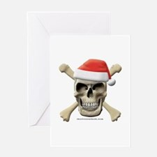 Santa Skull Greeting Card