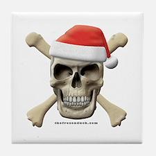 Santa Skull Tile Coaster