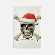 Santa Skull Rectangle Magnet (10 pack)
