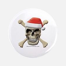 """Santa Skull 3.5"""" Button"""