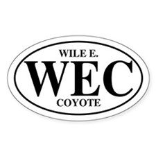 Wile E Coyote Oval Decal