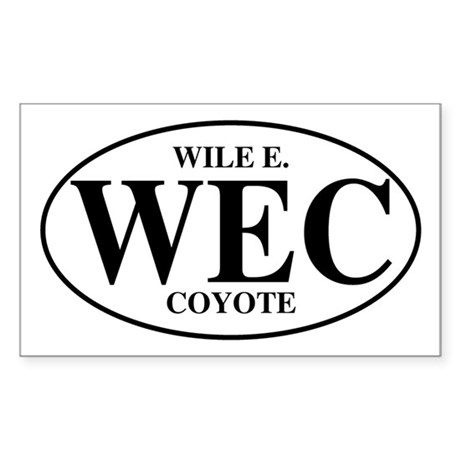 Wile E Coyote Rectangle Sticker