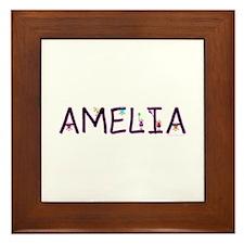 Amelia (Girl) Framed Tile