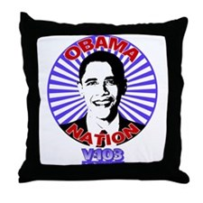 Obama-Nation Throw Pillow