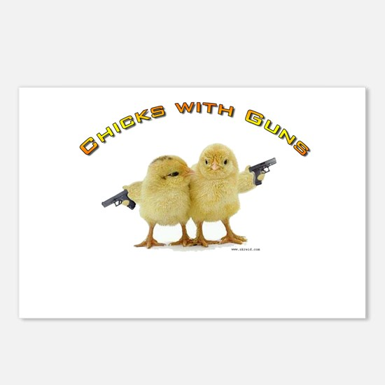 Chick Wi' Guns Postcards (Package of 8)