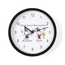 Clarinet & Trombone - Gretchen & Brett Wall Clock