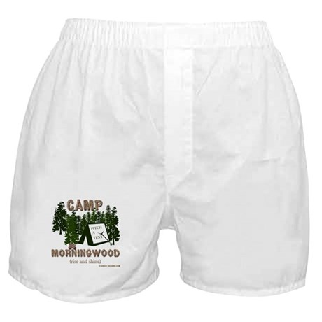 Camp Morning Wood Adult Boxer Shorts