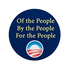 """Of the People: 3.5"""" Button"""
