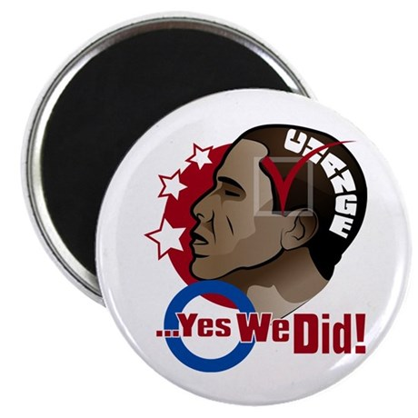 """O...Yes We Did! 2.25"""" Magnet (10 pack)"""