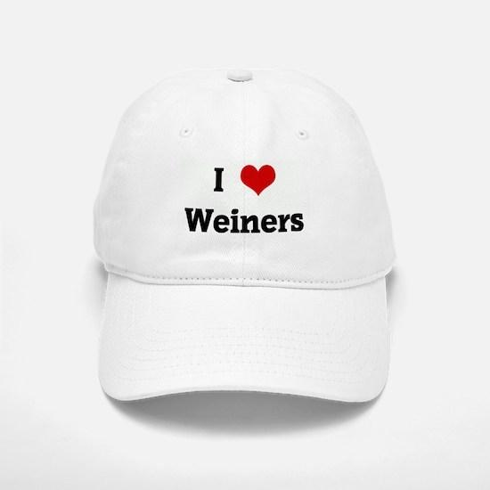 I Love Weiners Baseball Baseball Cap