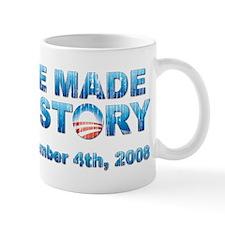 Vintage Obama - We Made History Small Mug