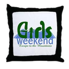 Mountain Girls Weekend Throw Pillow