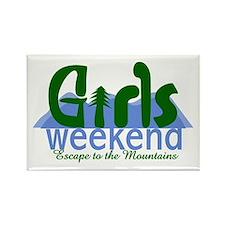 Mountain Girls Weekend Rectangle Magnet