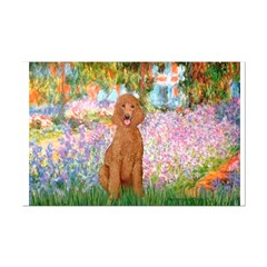 Garden/Std Poodle (apricot) Posters